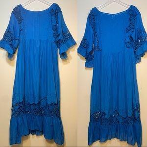 Akemi + Kin | Meadow Flutter Sleeve Dress | Small